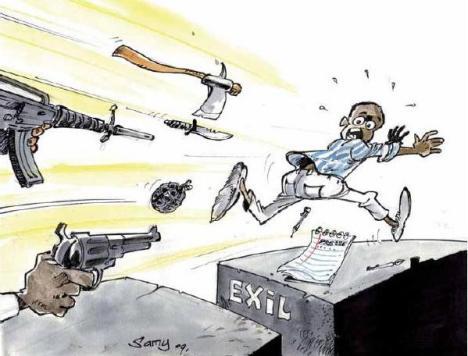 Caricatura exilio