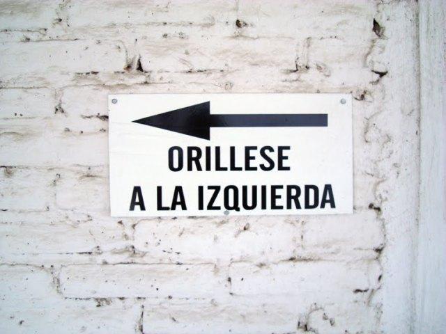 oRILLESE A LA ZURDA