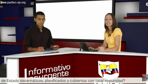 Guerrilla. Diálogos de paz. Noticiero de las FARC EP. Alexandra Nariño y Boris Guevara