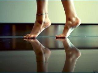 mis pies de puntillas